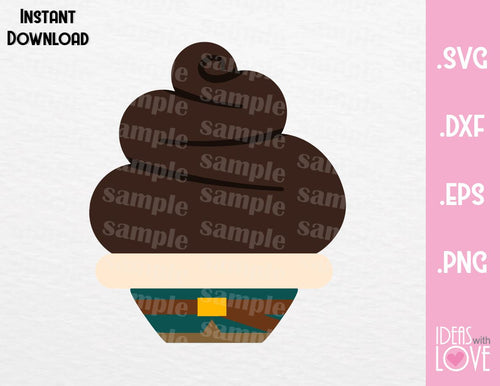 Flynn Tangled Cupcake Cutting File in SVG, EPS, DXF and PNG Format