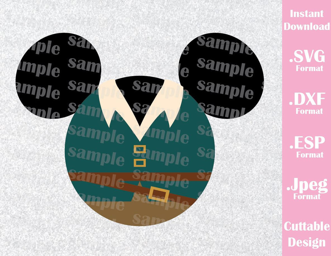 Flynn Mickey Ears Rapunzel Inspired Cutting File in SVG, ESP, DXF and JPEG Format