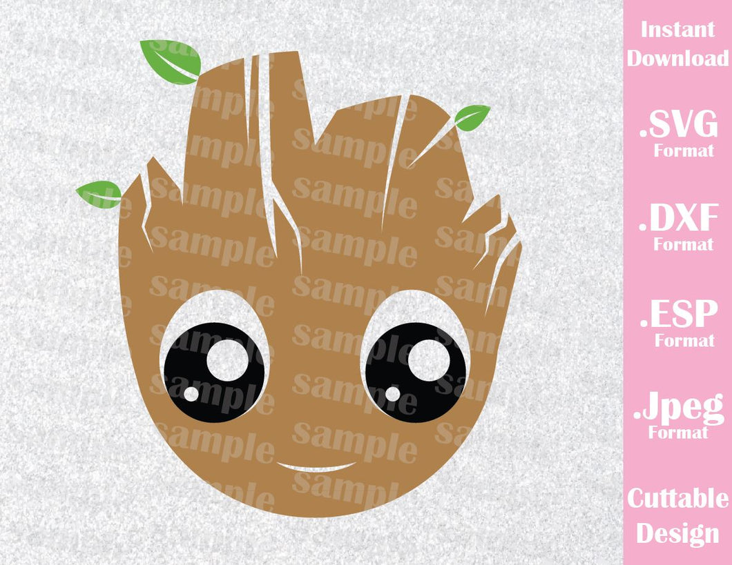 Guardian of the Galaxy Groot  Inspired Cutting File in SVG, ESP, DXF and JPEG Format