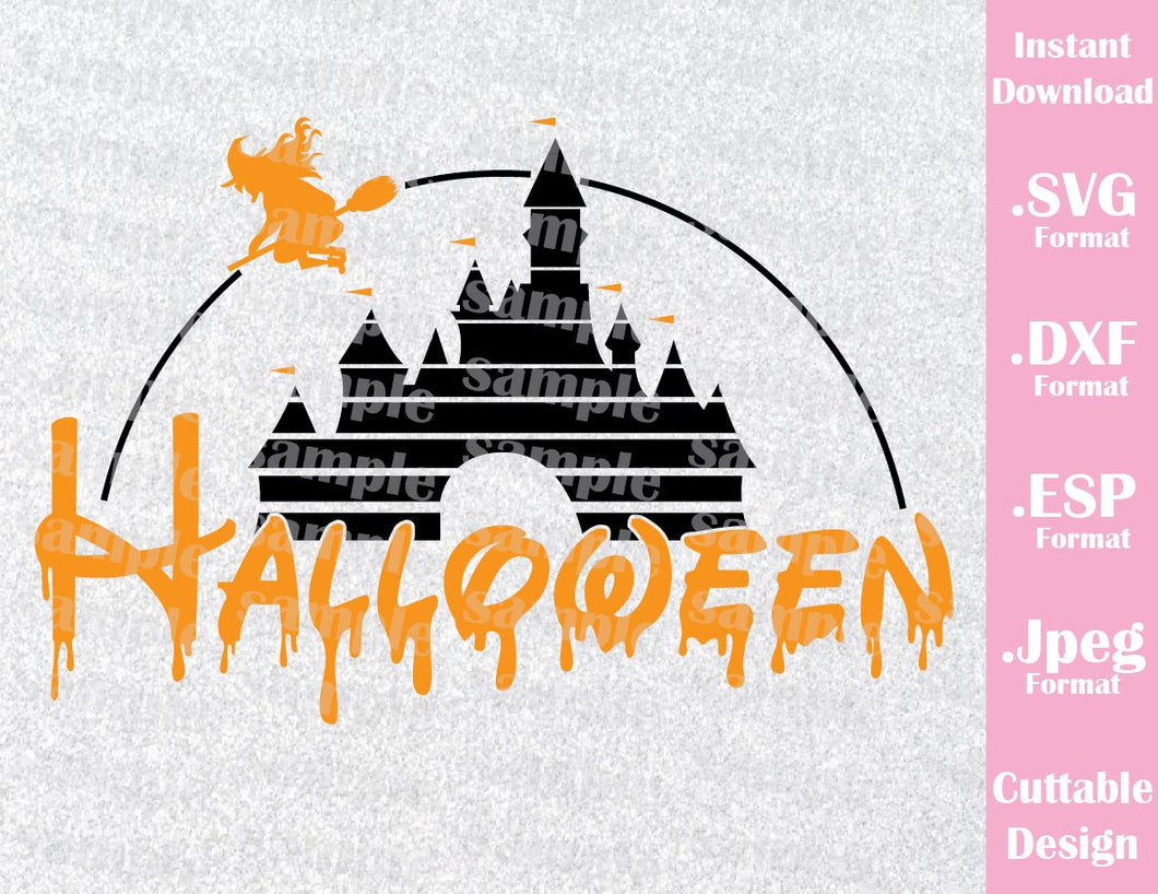 Castle Halloween Family Vacation Disney Halloween Inspired Cutting File in SVG, ESP, DXF and JPEG Format