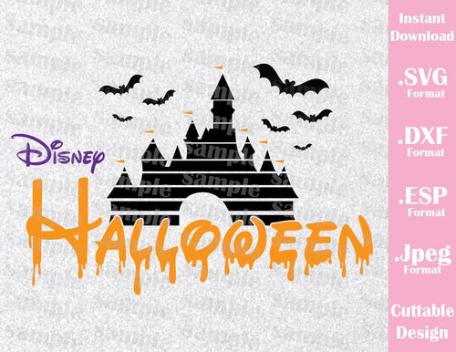 Castle Halloween Family Vacation Halloween Inspired Cutting File in SVG, EPS, DXF and JPEG Format