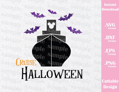 Halloween Cruise Mickey Ears Inspired Cutting File in SVG, EPS, DXF and PNG Format
