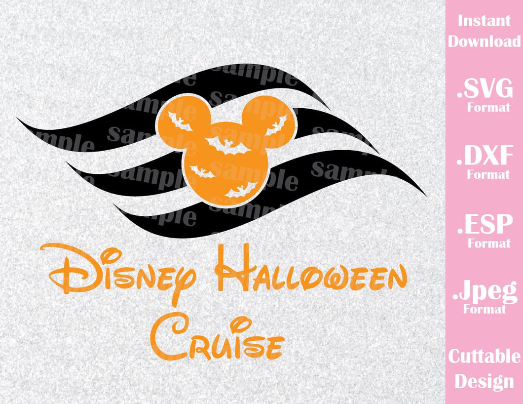 Halloween Cruise Logo Mickey Mouse Ears Disney Halloween Inspired Cutting  File in SVG, ESP, DXF and JPEG Format