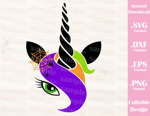 Halloween Unicorn Girl Cutting File in SVG, ESP, DXF and PNG Format for Cricut and Silhouette Machines