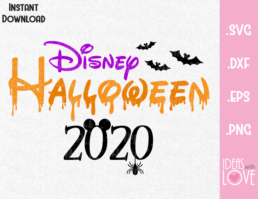 Halloween Vacation 2020 Mickey Ears, Halloween Inspired SVG, EPS, DXF, PNG Format
