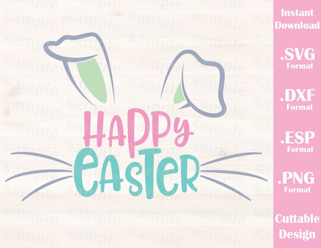 Easter Quote, Happy Easter, Bunny, Baby, Kid, Cutting File in SVG, ESP, DXF and PNG Format for Cricut and Silhouette