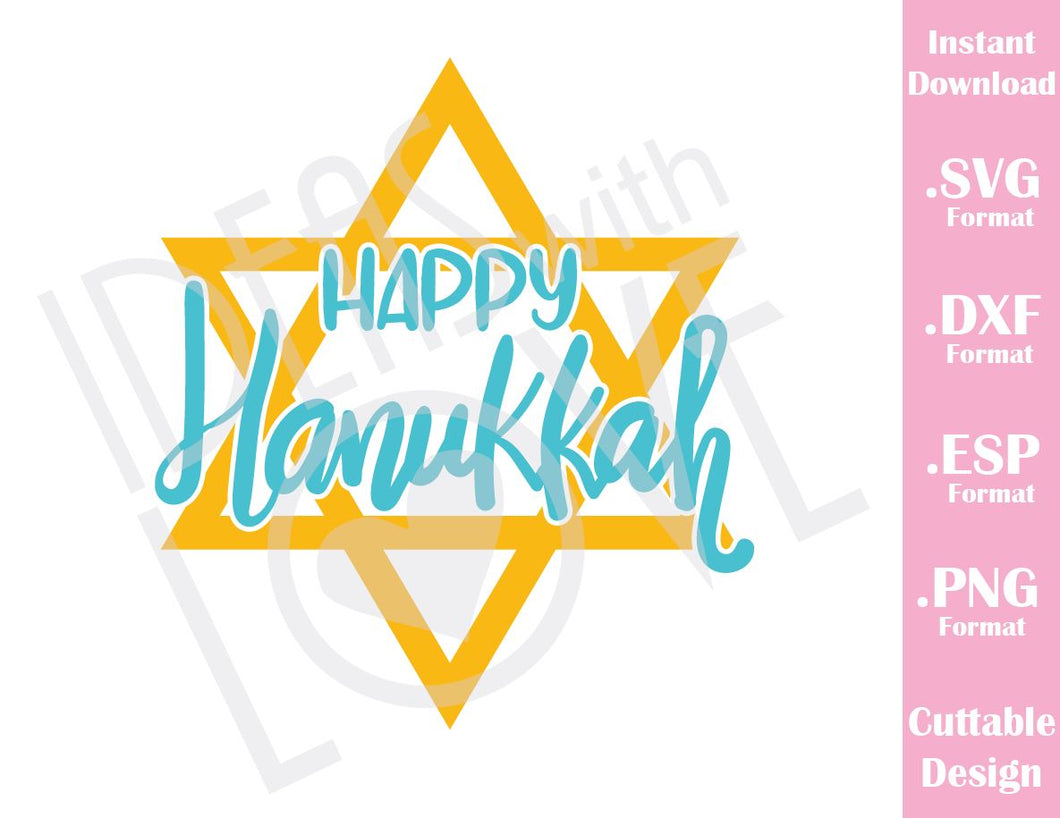 Happy Hanukkah Baby Kids Cutting File in SVG, ESP, DXF and PNG Format for Cricut and Silhouette
