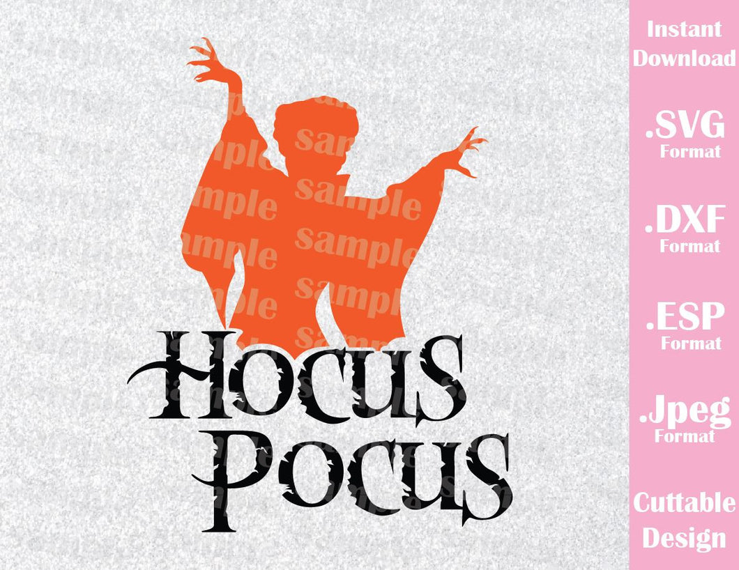 Hocus Pocus Sanderson Witches Winnie Disney Halloween Inspired Cutting File in SVG, ESP, DXF and JPEG Format