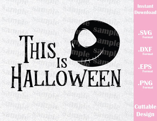 Jack Skellington This is Halloween, Inspired Cutting File in SVG, EPS, DXF and PNG Format