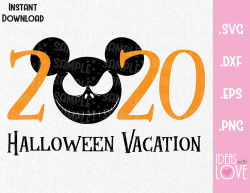 Jack Skellington Halloween Vacation 2020 Inspired SVG, EPS, DXF, PNG Format