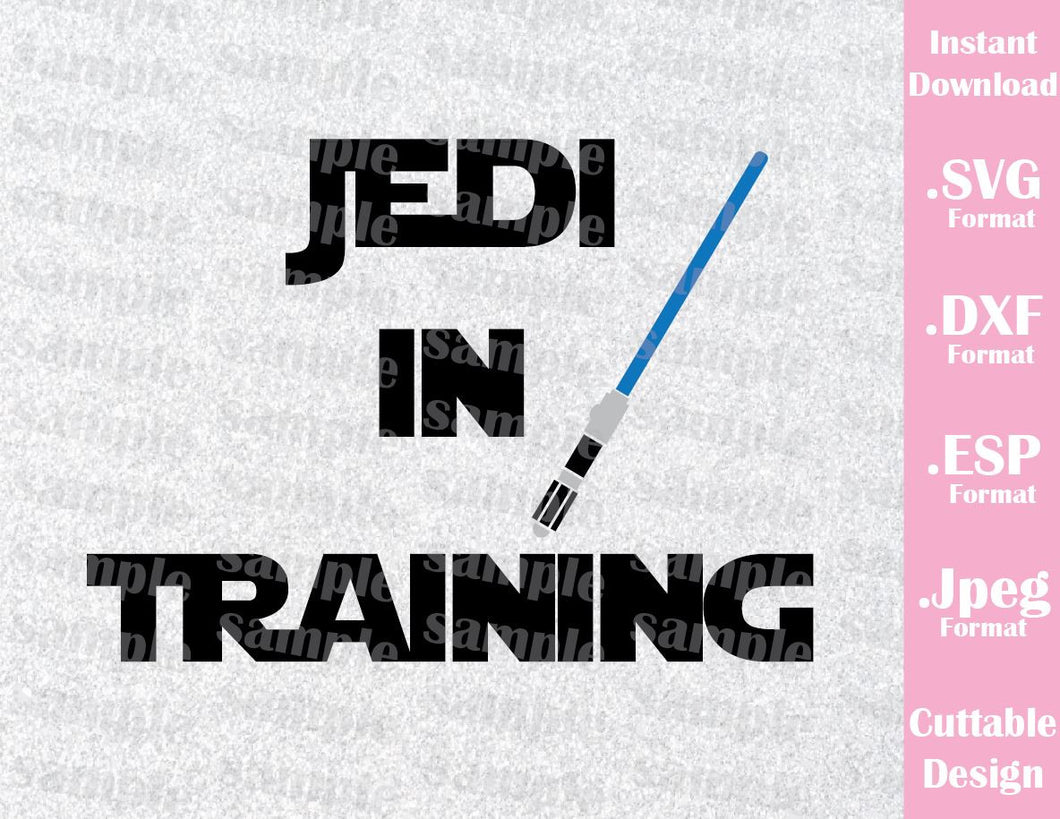 Jedi in Training Star Wars Inspired Cutting File in SVG, ESP, DXF and JPEG Format