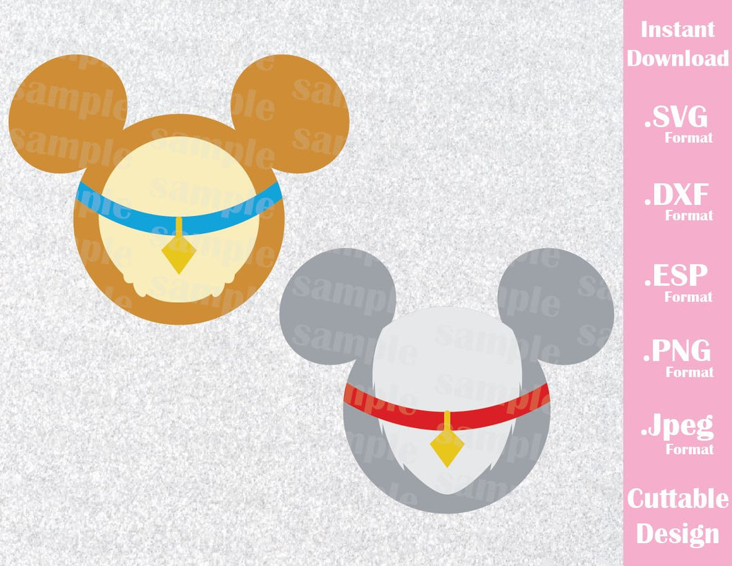 Lady and The Tramp Mickey Ears Inspired Cutting File in SVG, ESP, DXF, PNG and JPEG Format