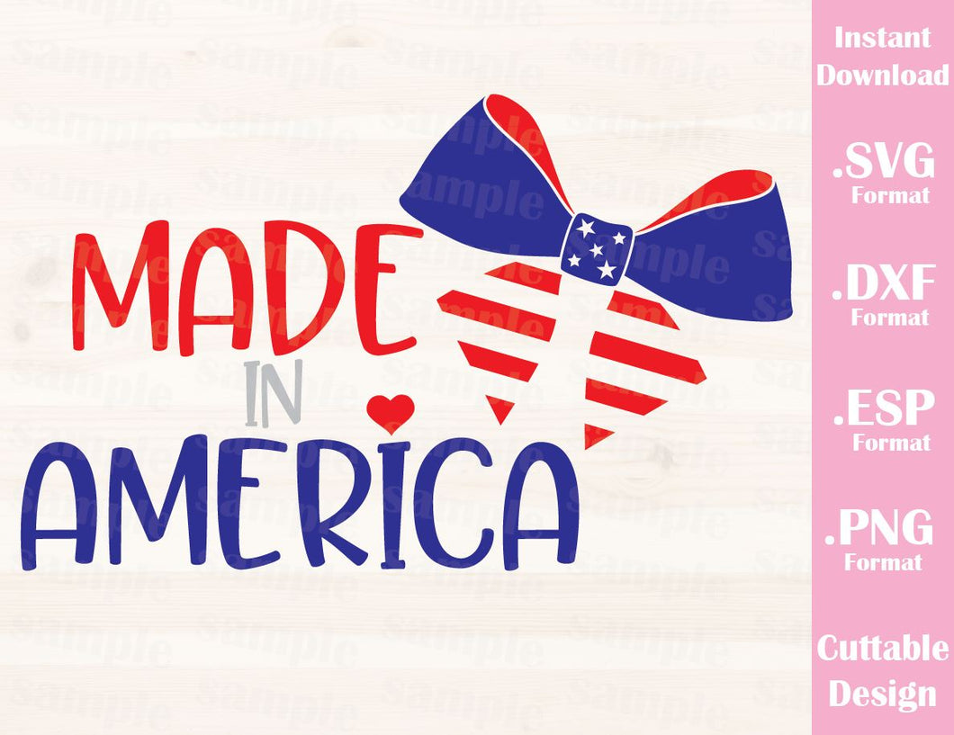 Fourth of July Quote, Made in America, Cutting File in SVG, ESP, DXF and PNG Format for Cutting Machines Silhouette Cricut