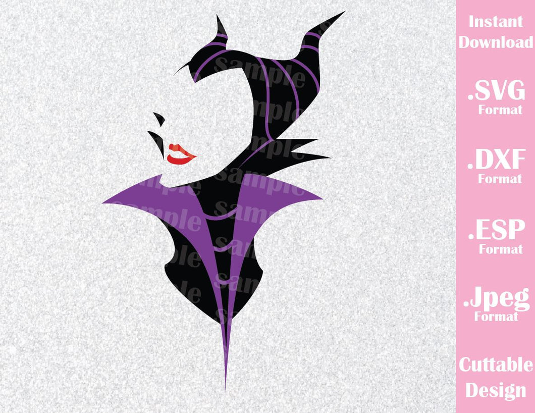 Maleficent Villain Inspired Cutting File in SVG, ESP, DXF and JPEG Format