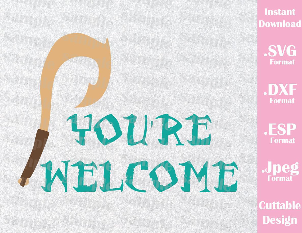 Maiu You're Welcome from Moana Inspired Cutting File in SVG, ESP, DXF and JPEG Format