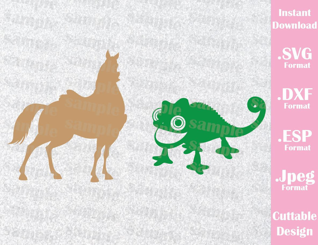 Maximus and Pascal Rapunzel Inspired Cutting File in SVG, ESP, DXF and JPEG Format