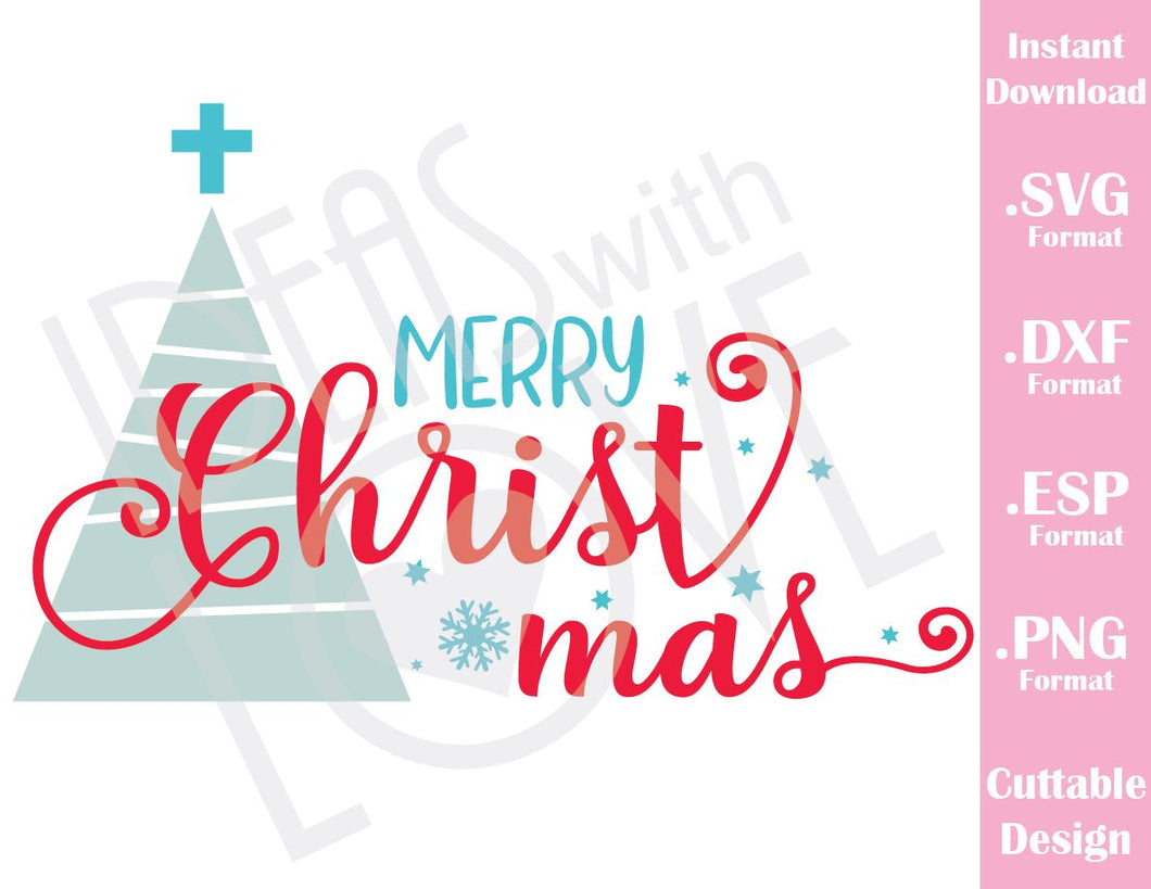 Merry Christmas Quote Baby Kids Family Vacation Cutting File in SVG, ESP, DXF and PNG Format for Cricut and Silhouette