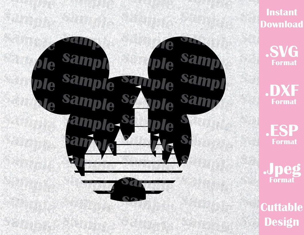 Mickey Castle Ears Inspired Cutting File in SVG, ESP, DXF and JPEG Format