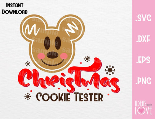 Mickey Ears Christmas Cookie Tester Inspired SVG, EPS, DXF, PNG Format