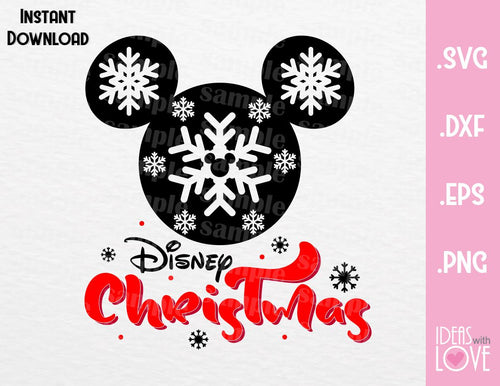 Mickey Ears Disney Christmas Inspired SVG, EPS, DXF, PNG Format