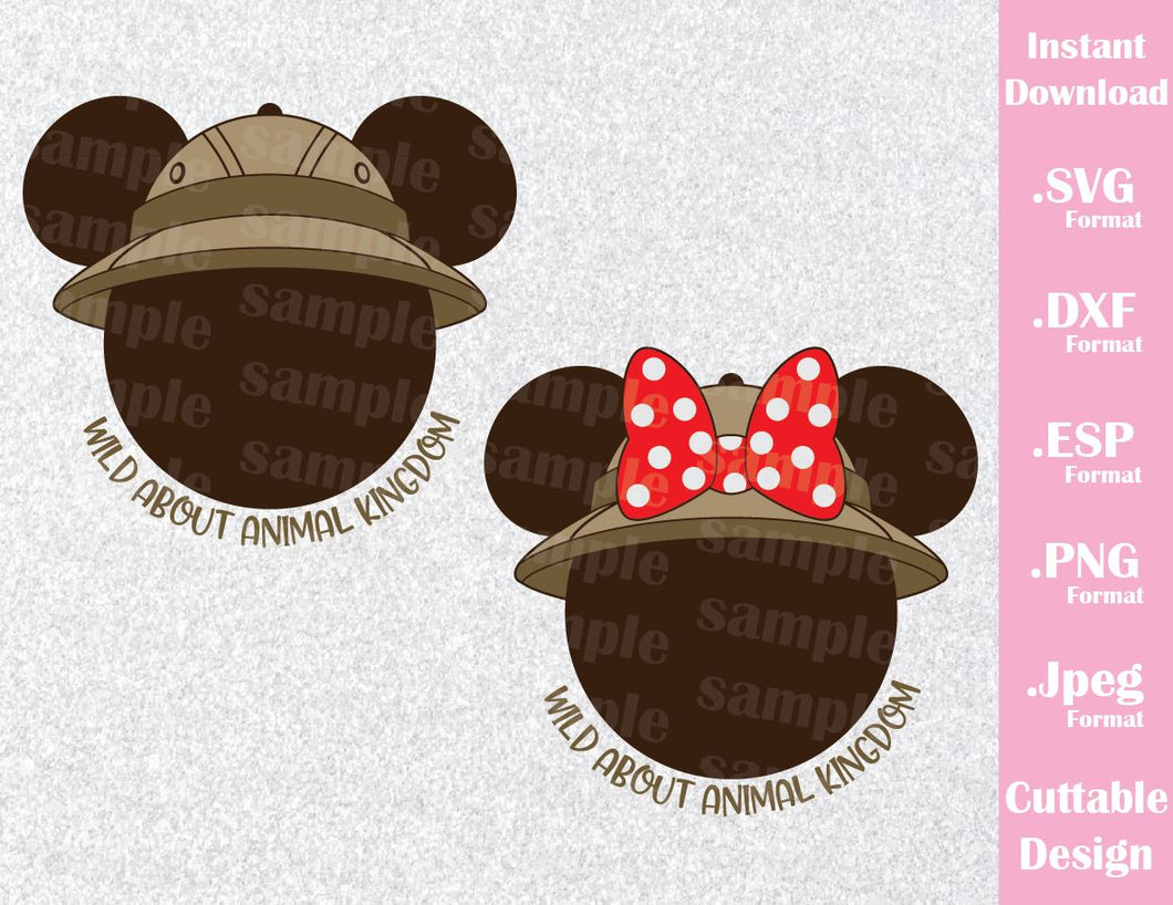 9dab7cfba1709 ... new zealand mickey and minnie mouse ears safari hat quote wild about  animal kingdom disney inspired
