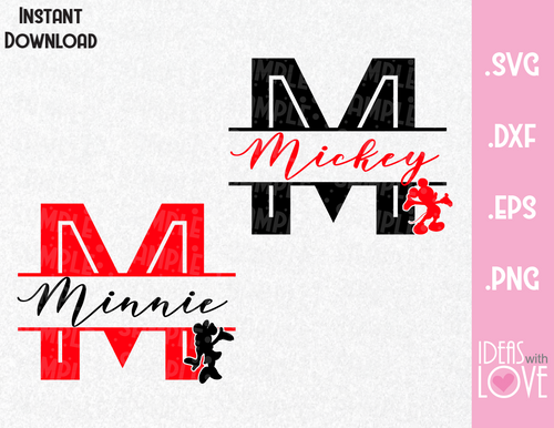 Mickey and Minnie Couple Inspired SVG, EPS, DXF, PNG
