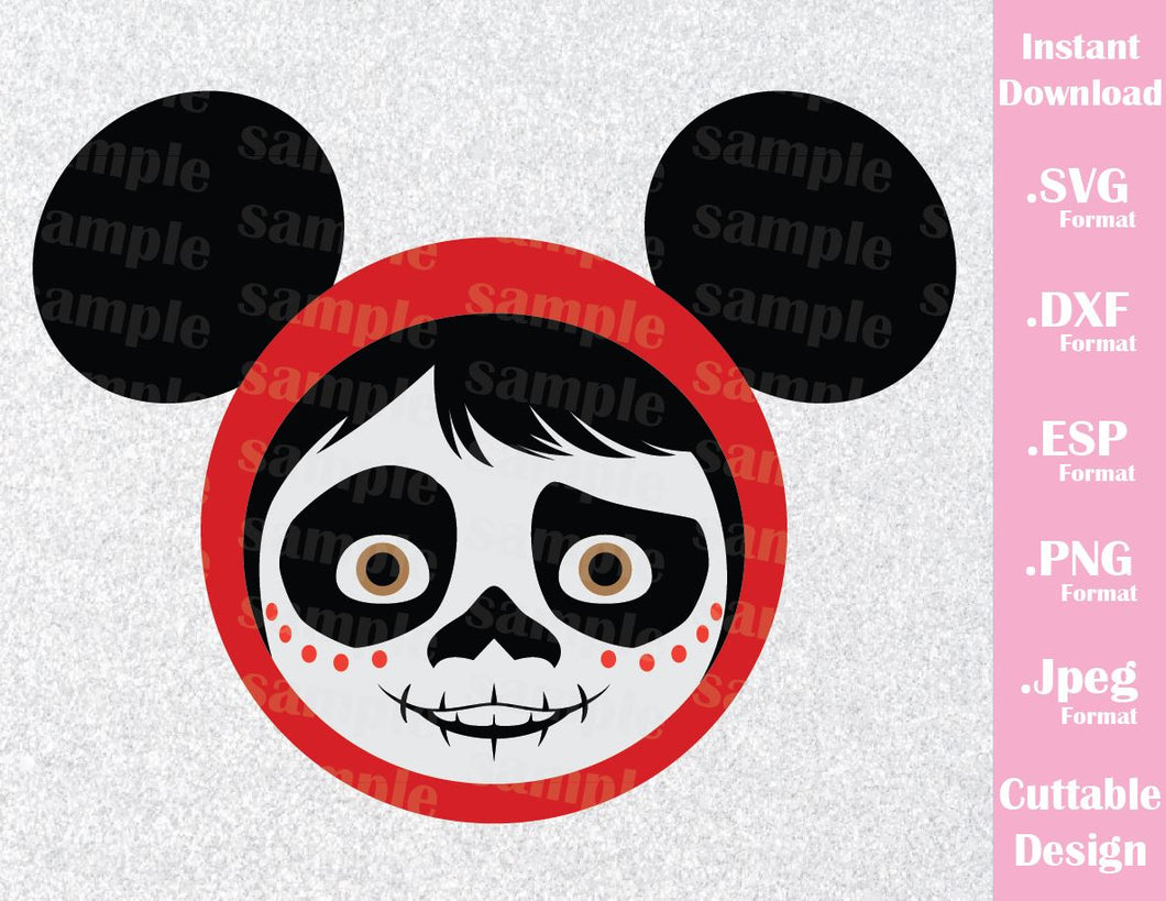 Miguel Rivera from Coco Mickey Ears Inspired Cutting File in SVG, ESP, DXF, PNG and JPEG Format