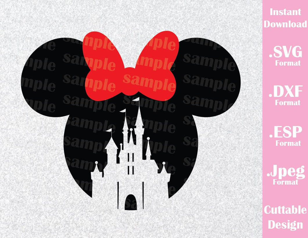 Minnie Castle Ears Inspired Cutting File in SVG, ESP, DXF and JPEG Format