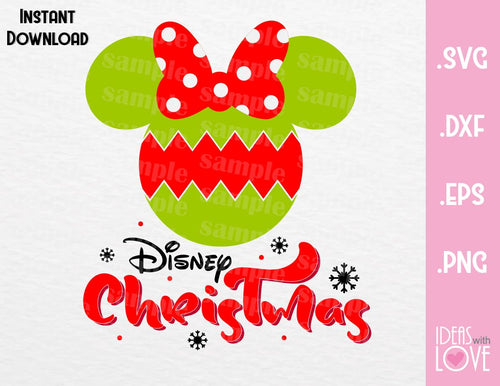 Minnie Ears Bauble Disney Christmas Inspired SVG, EPS, DXF, PNG Format