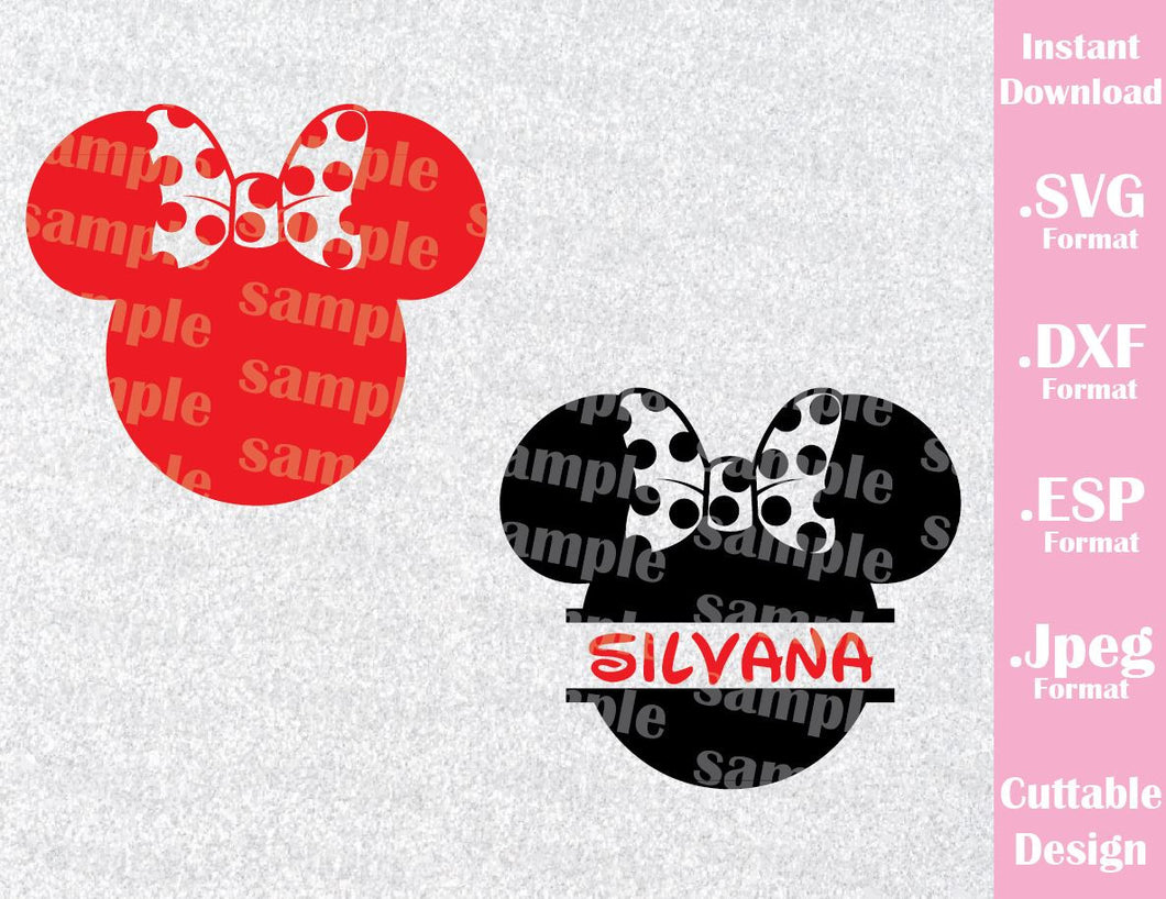 Minnie Mouse Ears Disney Inspired Cutting File in SVG, ESP, DXF and JPEG Format