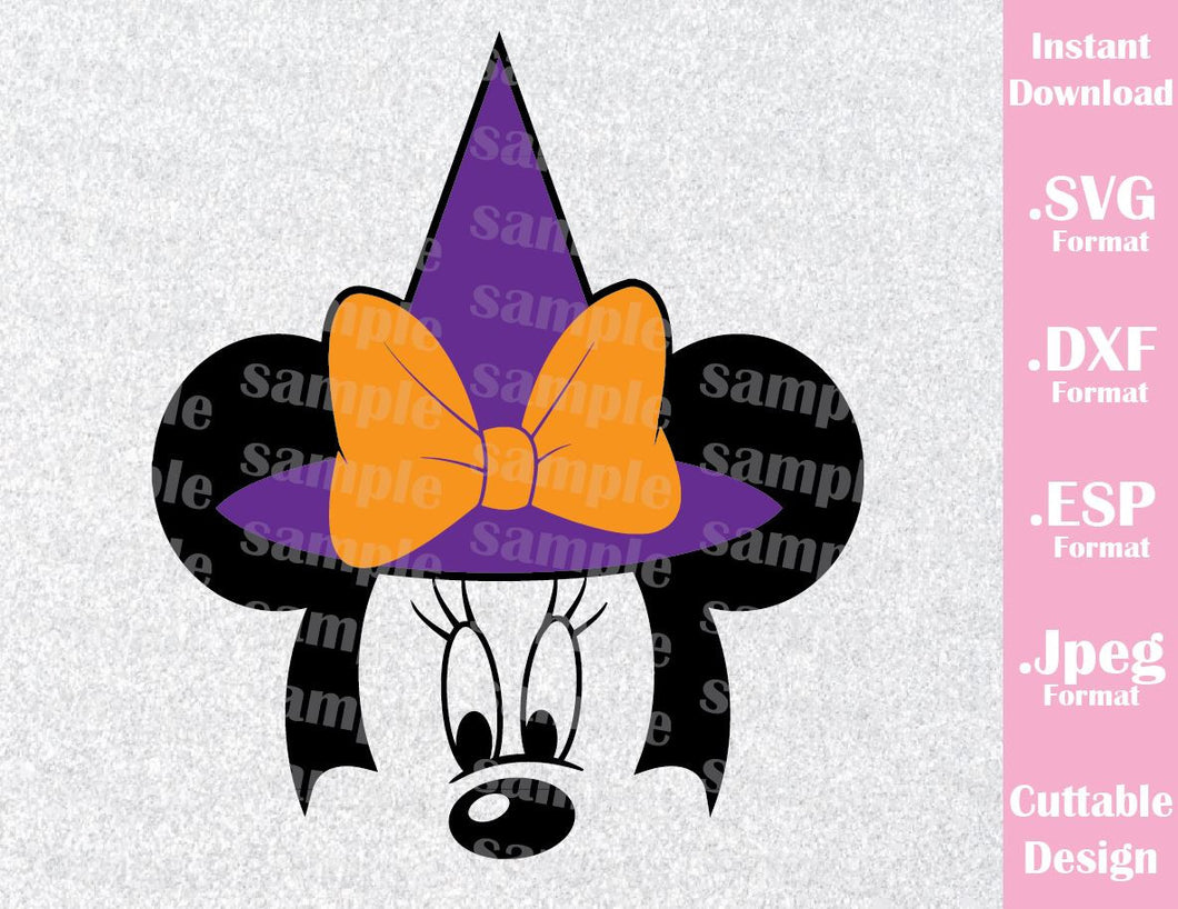 Minnie Mouse Hat Ears Halloween Disney Vacation Inspired Cutting File in SVG, ESP, DXF and JPEG Format