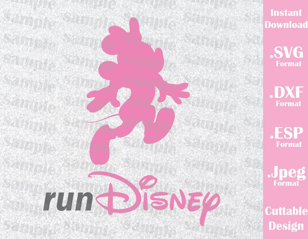 Minnie Run Disney Inspired Cutting File in SVG, ESP, DXF and JPEG Format
