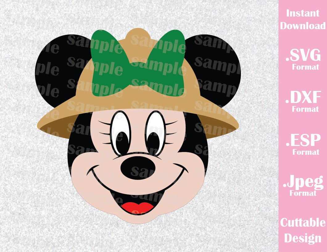 Animal Kingdom Minnie Ears Safari Inspired Cutting File in SVG, ESP, DXF and JPEG Format