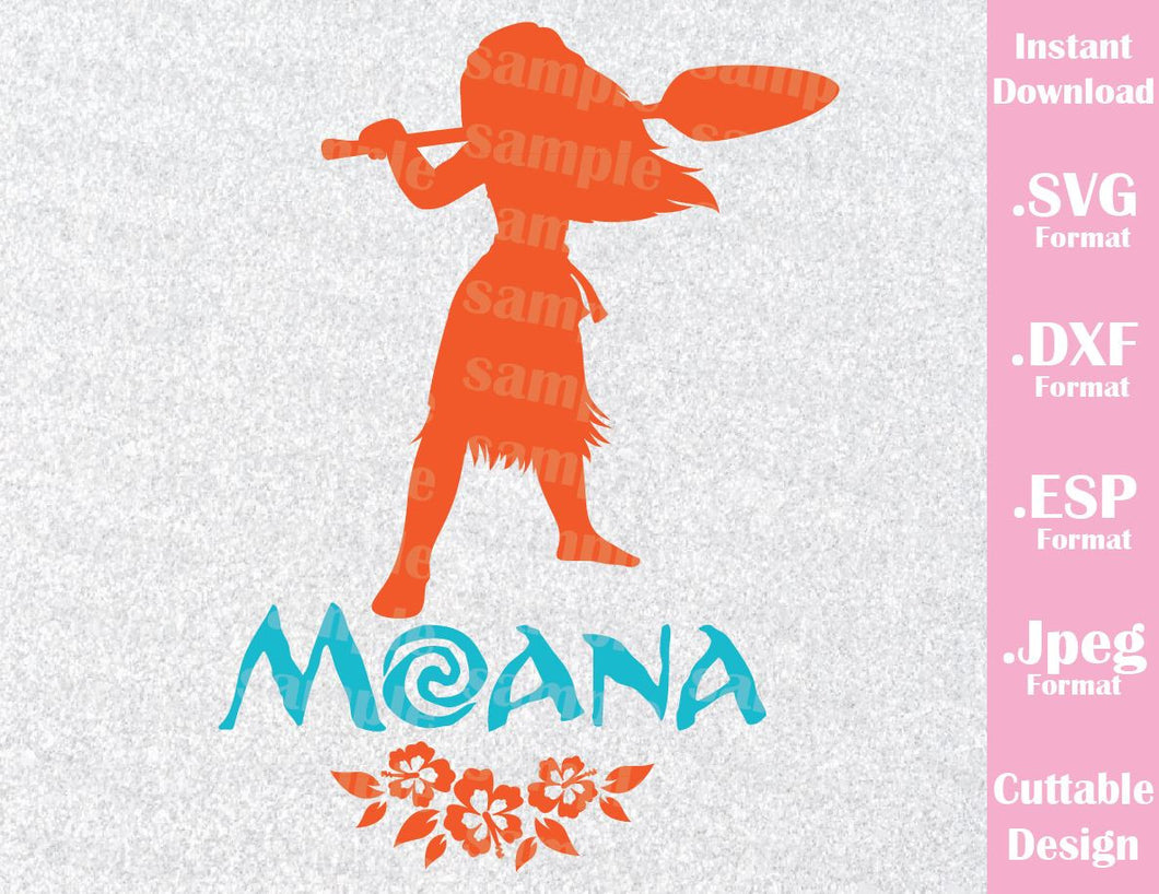 Disney Inspired Princess Moana Cutting File in SVG, ESP, DXF and JPEG Format