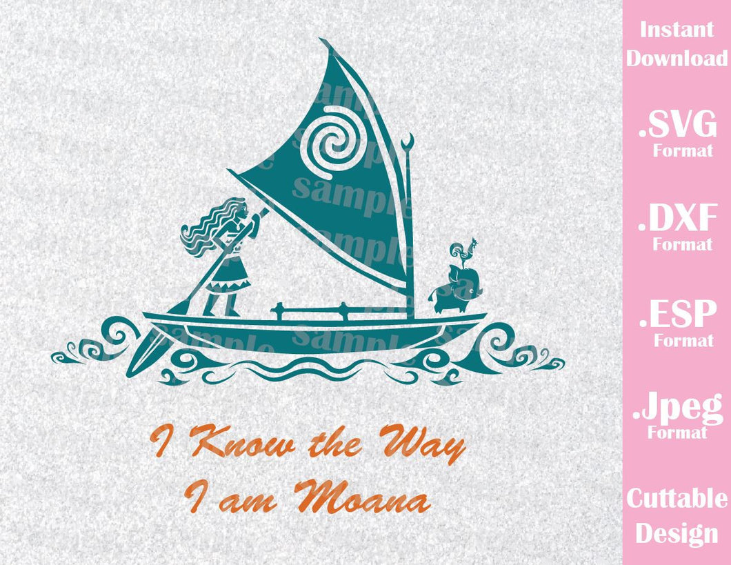 Princess Moana Pua HeiHei Quote Inspired Cutting File in SVG, ESP, DXF and JPEG Format