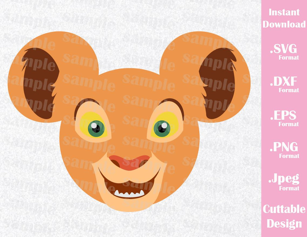 Lion King Nala Mickey Ears Inspired Cutting File in SVG, ESP, DXF, PNG  Format