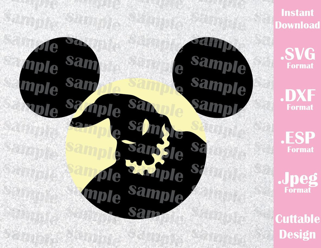 Oogie Boogie Mickey Ears Halloween Inspired Cutting File in SVG, EPS, DXF and JPEG Format