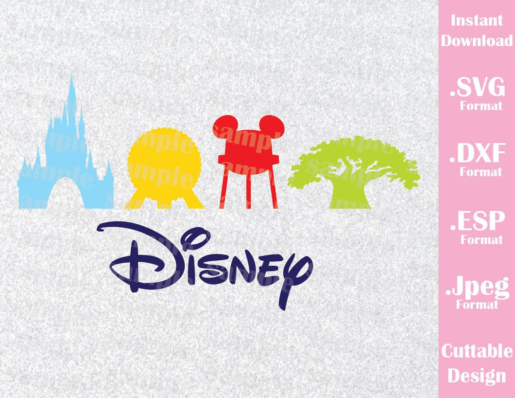 Disney Parks Inspired Family Vacation Cutting File in SVG, ESP, DXF and JPEG Format