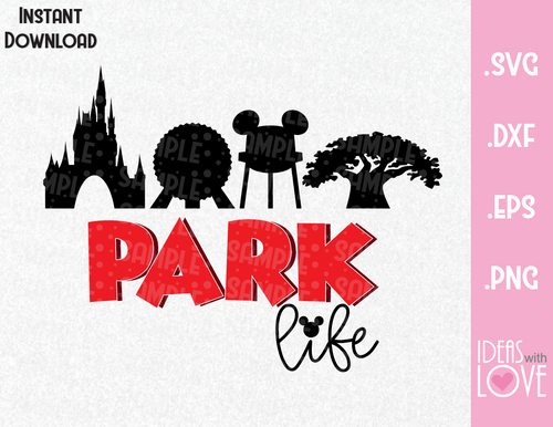 Mickey Ears Park Life Inspired SVG, EPS, DXF and PNG Format