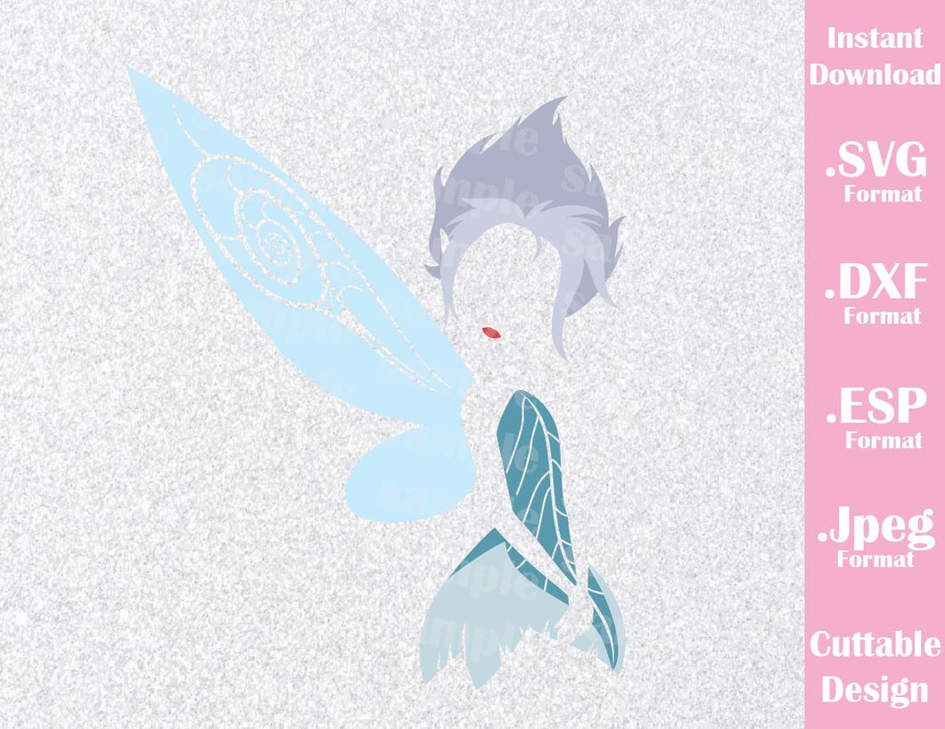 Periwinkle Tinkerbell's Sister Inspired Cutting File in SVG, ESP, DXF and JPEG Format