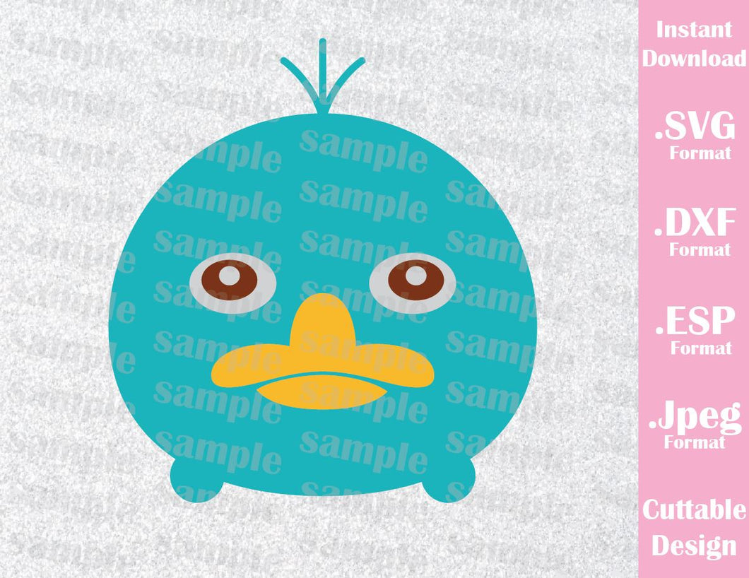 Perry the Platypus Tsum Tsum Inspired Cutting File in SVG, ESP, DXF and JPEG Format