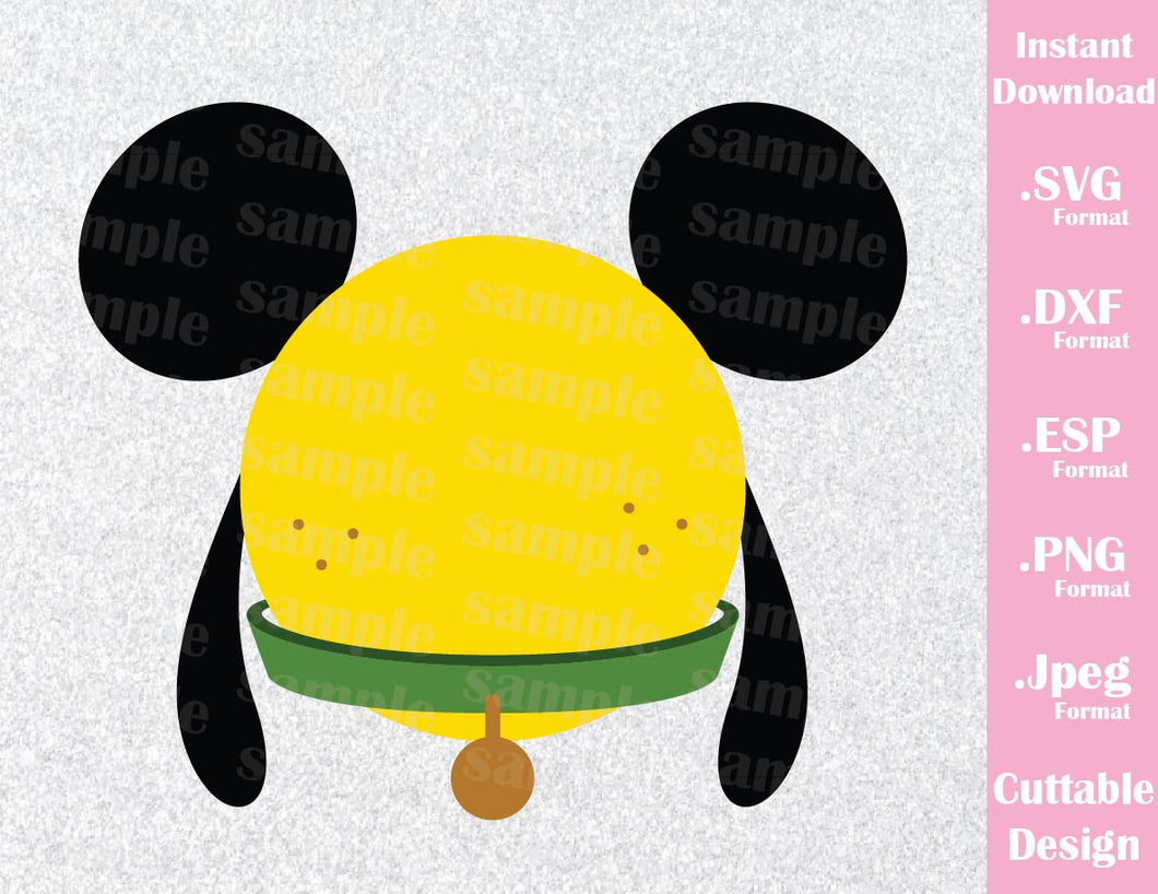 Pluto Mickey Ears Inspired Cutting File in SVG, EPS, DXF, PNG and JPEG Format