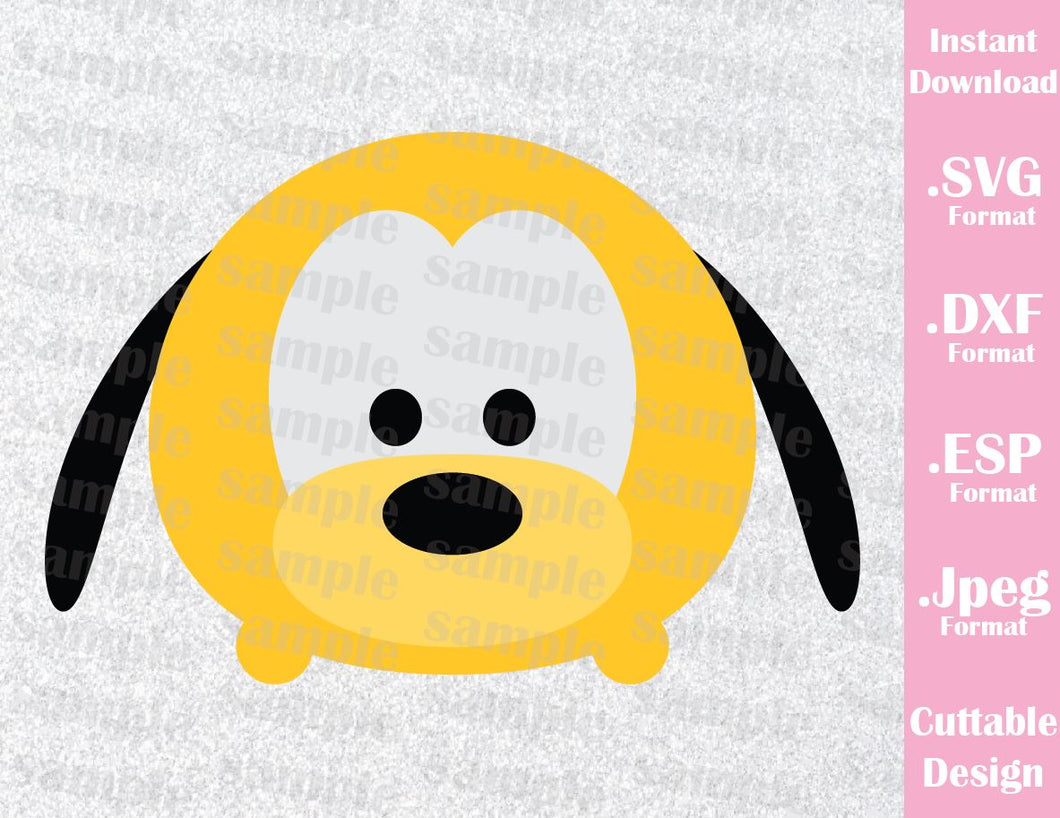 Pluto Tsum Tsum Inspired Cutting File in SVG, ESP, DXF and JPEG Format