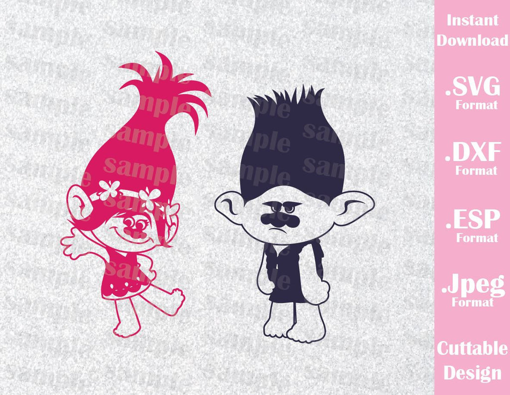 Trolls Hair Kids Characters Princess Poppy And Branch