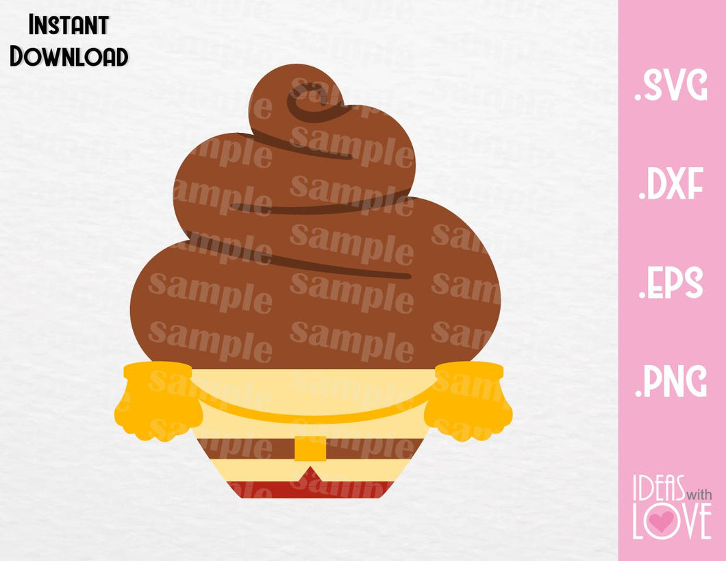 Prince Charming Cupcake Cutting File in SVG, EPS, DXF and PNG Format