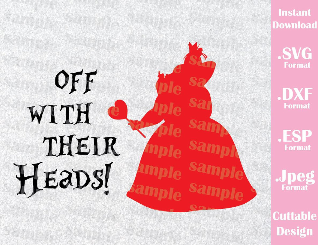 Queen of Hearts Alice in Wonderland Inspired Cutting File in SVG, ESP, DXF and JPEG Format