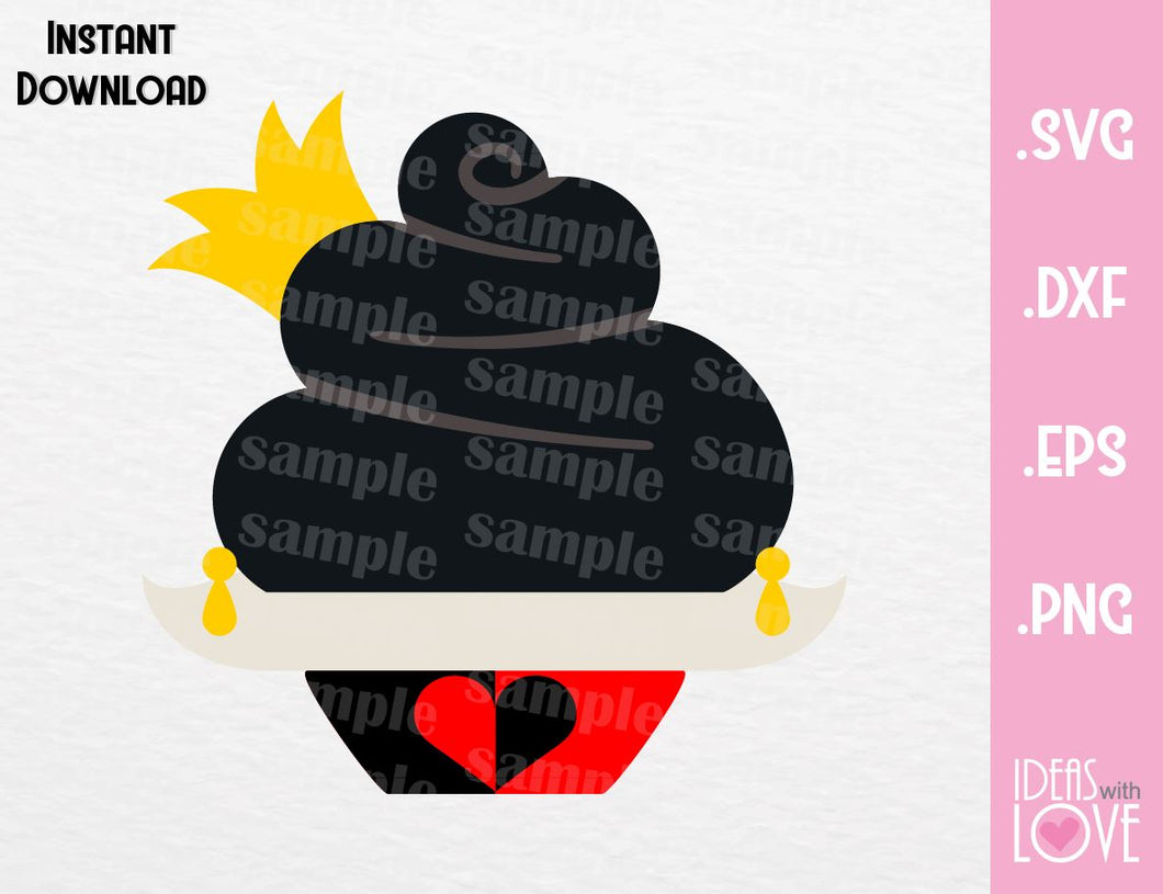 Queen of Hearts Cupcake Villain Inspired Cutting Machines File in SVG, EPS, DXF and Png Format