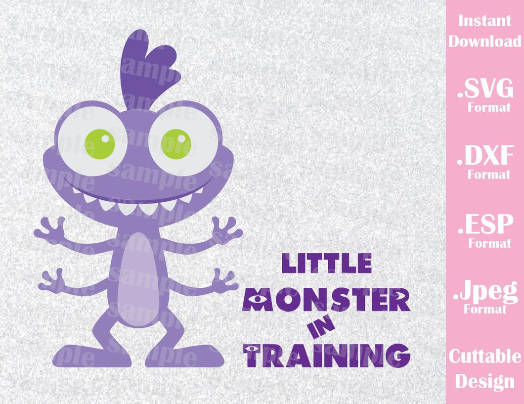 Baby Randall Little Monster in Training Monster Inc Inspired Cutting File in SVG, ESP, DXF and JPEG Format