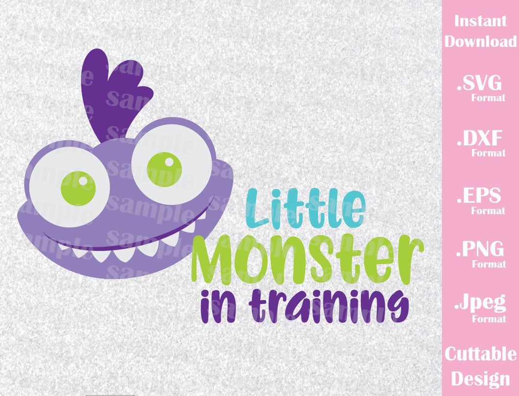 Baby Randall, Little Monster in Training, Monster Inc Inspired Cutting File in SVG, ESP, DXF, PNG and JPEG Format