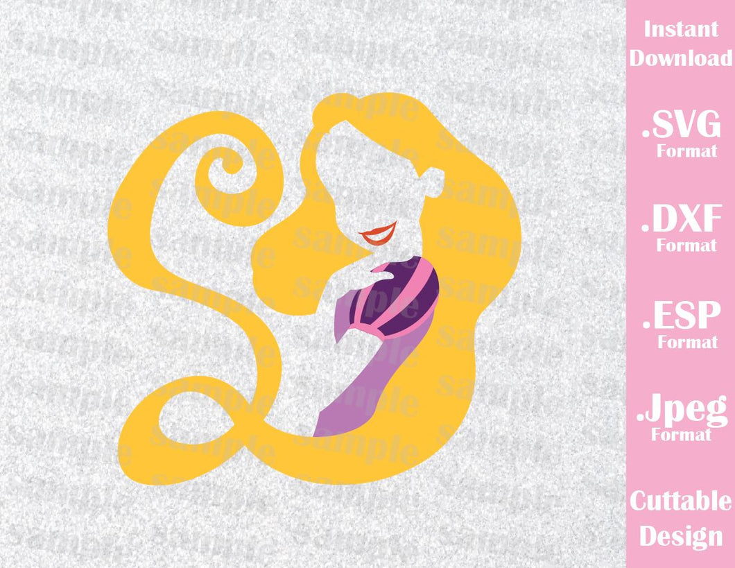 Princess Rapunzel The Lost Princess Inspired Cutting File in SVG, EPS, DXF and JPEG Format